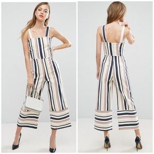 Asos Pinny Jumpsuit Striped Size 10